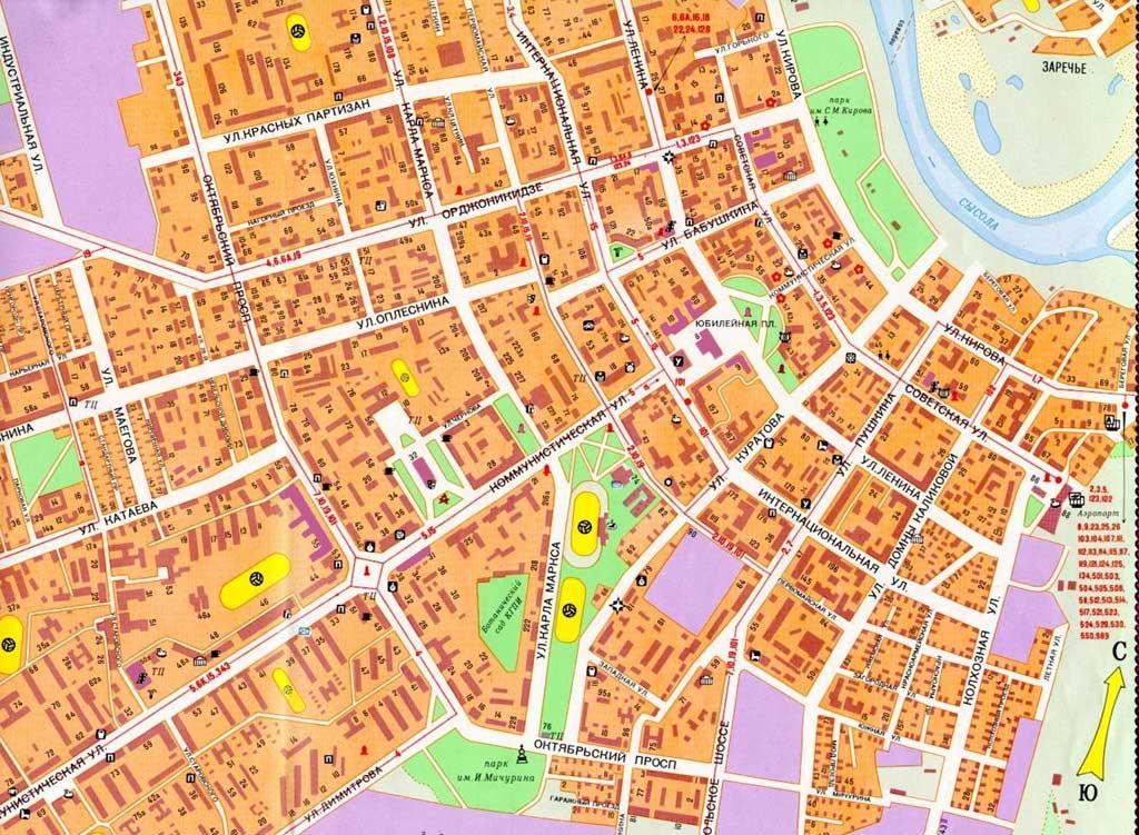 Республика коми карты городов
